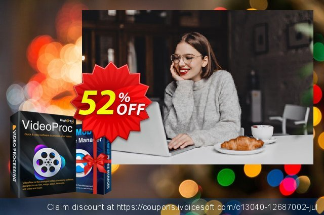 VideoProc for MAC (Family License for 2-5 Mac) discount 52% OFF, 2020 Black Friday offering sales
