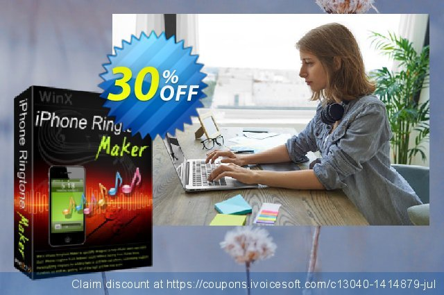 WinX iPhone Ringtone Maker discount 30% OFF, 2020 Halloween offering sales