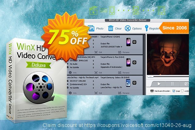 WinX HD Video Converter Deluxe discount 60% OFF, 2020 Happy New Year discounts