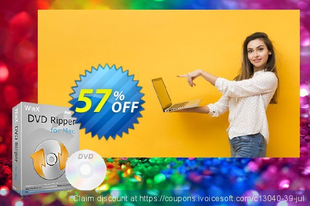 WinX DVD Ripper for Mac discount 35% OFF, 2020 July 4th discounts