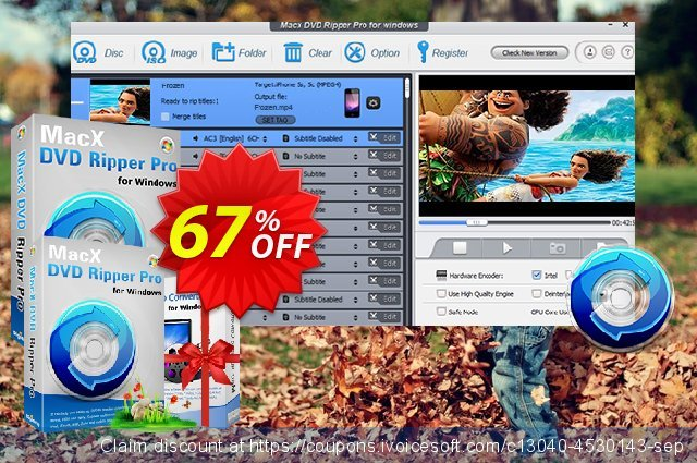 MacX DVD Ripper Pro (Windows) discount 67% OFF, 2019 Black Friday offering sales