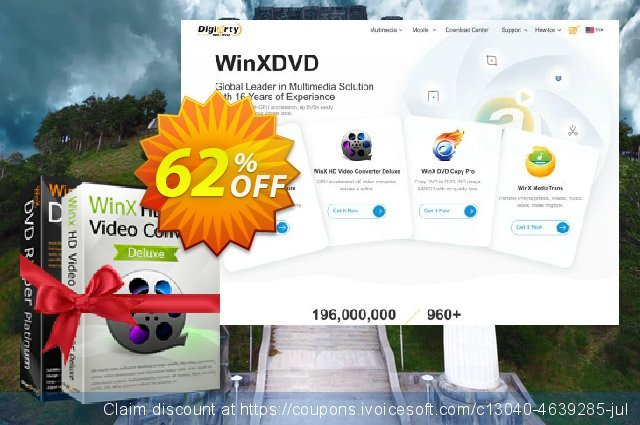 Get 30% OFF WinX DVD Video Converter Pack for 1 PC (Exclusive Deal) discounts