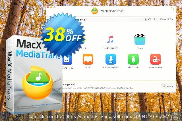 MacX MediaTrans discount 38% OFF, 2019 Back to School coupons offering sales