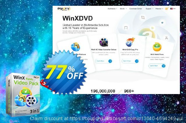 WinX Family Video Pack (for 2 PCs) discount 77% OFF, 2020 University Student offer offering sales