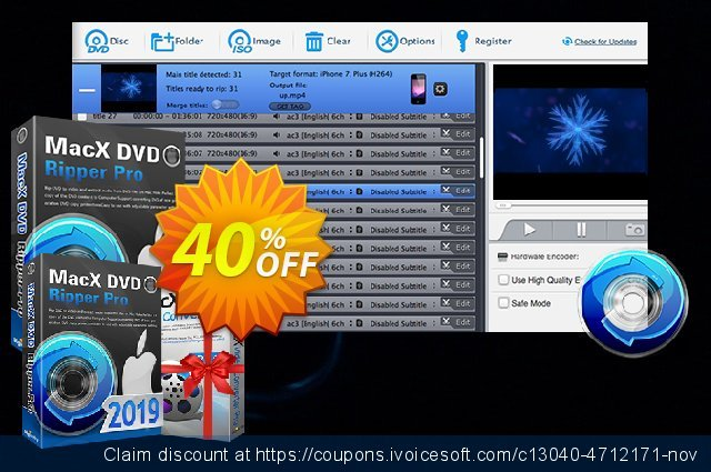 MacX DVD Ripper Pro discount 50% OFF, 2021 Labour Day discounts