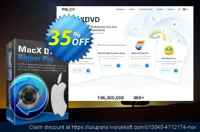 MacX DVD Ripper Pro (Family License)惊人的产品销售 软件截图
