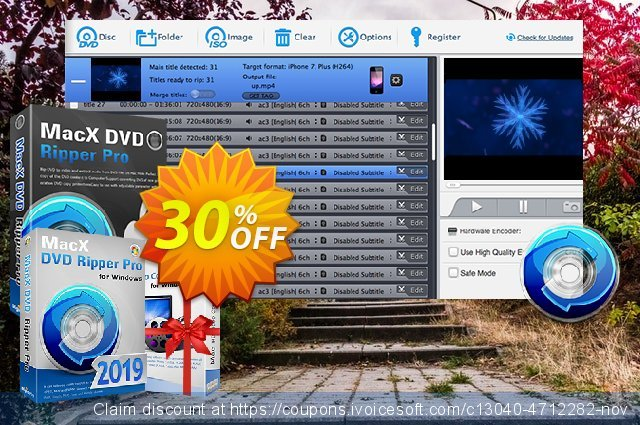 MacX DVD Ripper Pro for Windows Lifetime discount 30% OFF, 2020 4th of July offering sales