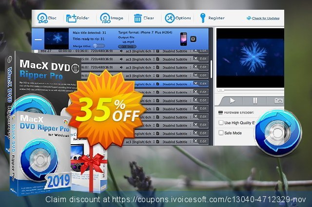 MacX DVD Ripper Pro for Windows (Family License) discount 35% OFF, 2019 Thanksgiving Day offering sales