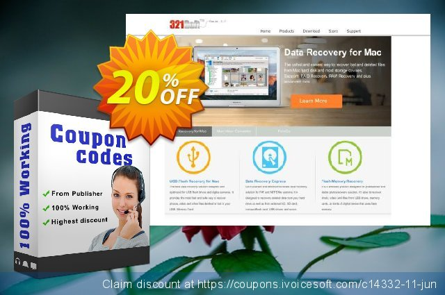 Get 20% OFF 321Soft Data Recovery Express promo sales