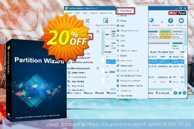 MiniTool Partition Wizard Server discount 20% OFF, 2021 Mother's Day promotions. 20% off