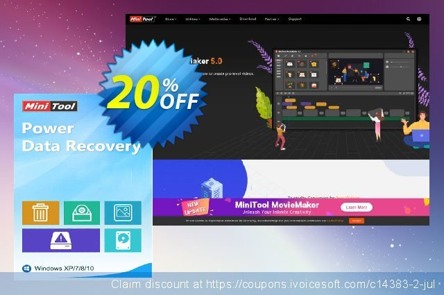 MiniTool Power Data Recovery Commercial discount 20% OFF, 2019 Halloween offering sales