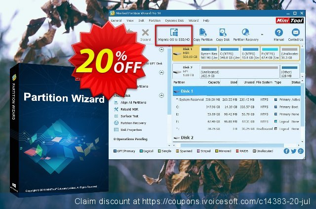 Partition Wizard Enterprise (Lifetime Upgrade) discount 20% OFF, 2021 Working Day offering discount. 20% off