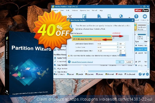 MiniTool Partition Wizard Pro discount 40% OFF, 2021 Working Day offering deals. 20% off