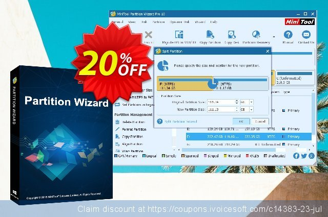 MiniTool Partition Wizard Pro Ultimate (Lifetime usage) 惊人的 折扣 软件截图