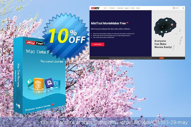 MiniTool Mac Data Recovery discount 10% OFF, 2020 January offering sales