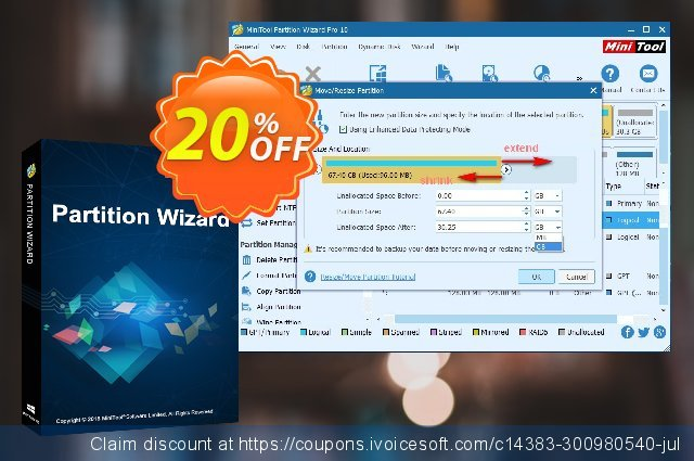 MiniTool Partition Wizard Pro Deluxe discount 20% OFF, 2020 College Student deals promo sales