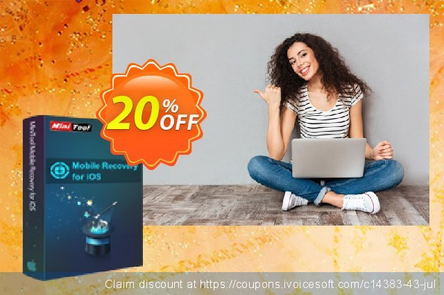 MiniTool Mobile Recovery for iOS Lifetime discount 20% OFF, 2021 Mother's Day promo. 20% off