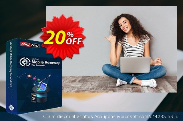 MiniTool Mobile Recovery for Android discount 20% OFF, 2020 Summer deals