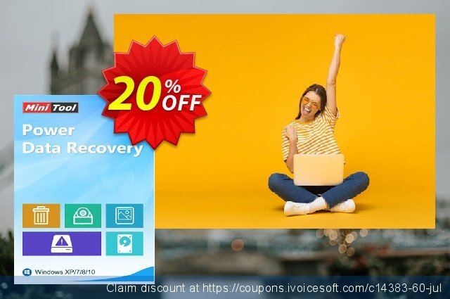 MiniTool Power Data Recovery - Personal Deluxe discount 20% OFF, 2019 Working Day offering deals