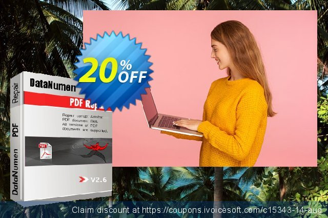 DataNumen PDF Repair discount 20% OFF, 2019 Thanksgiving Day offering sales