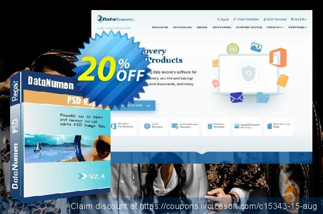 DataNumen PSD Repair discount 20% OFF, 2019 Rose Day offering deals