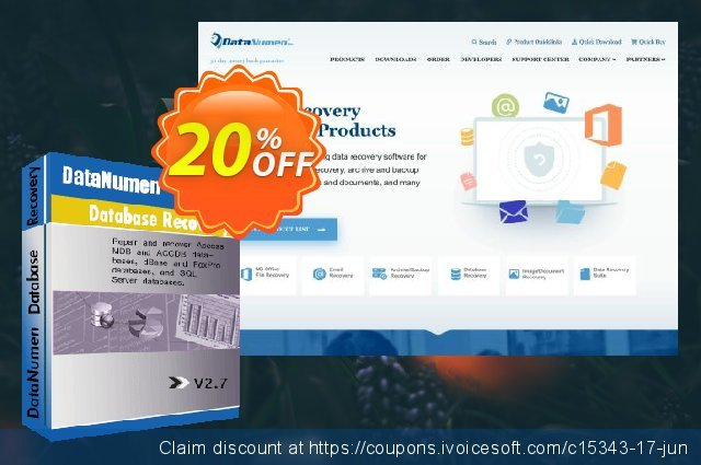 DataNumen Database Recovery discount 20% OFF, 2019 Teddy Day promo