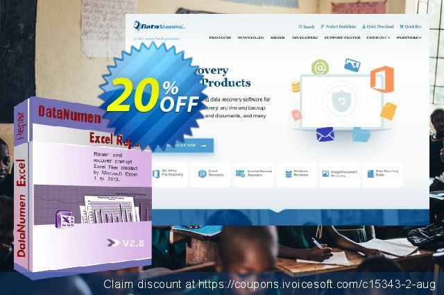 DataNumen Excel Repair discount 20% OFF, 2020 4th of July offering sales