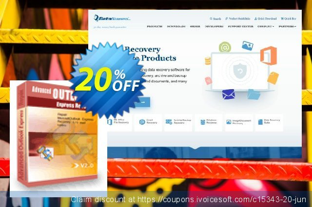 DataNumen Outlook Express Drive Recovery - Business discount 20% OFF, 2021 January offering sales