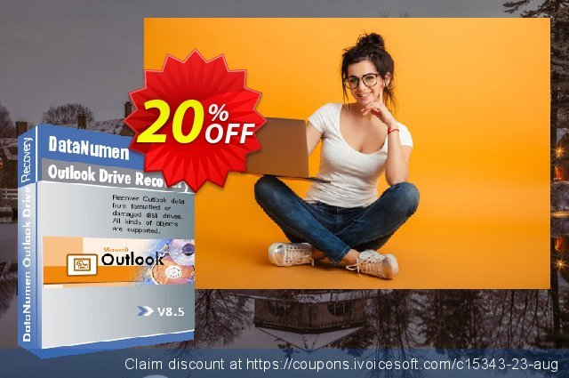 DataNumen Outlook Drive Recovery discount 20% OFF, 2020 Spring offering sales