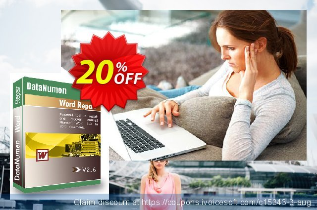 DataNumen Word Repair discount 20% OFF, 2020 Christmas Day promotions