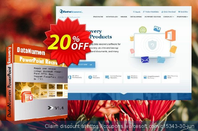 DataNumen PowerPoint Recovery discount 20% OFF, 2019 Teacher deals offering sales