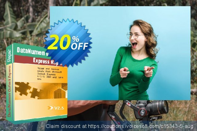 DataNumen Outlook Express Repair discount 20% OFF, 2019 College Student deals offering sales