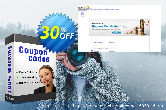 Aimersoft Video Converter 特殊 销售 软件截图