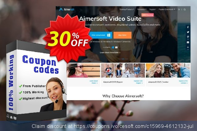 Aimersoft DVD Ripper for Mac + DVD Copy for Mac discount 30% OFF, 2021 Magic Day offering deals. Aimersoft DVD Ripper for Mac + DVD Copy for Mac amazing discount code 2021