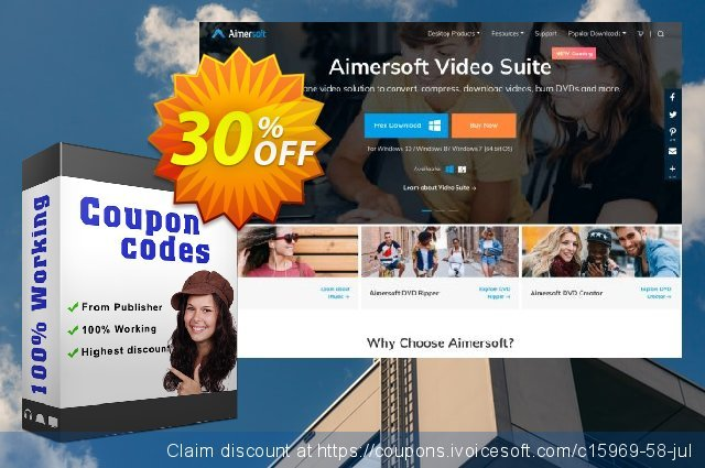 Aimersoft Music Converter discount 30% OFF, 2020 Working Day offering sales