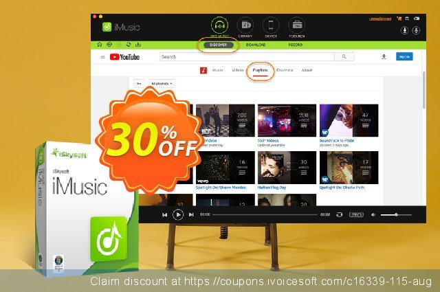 iSkysoft iMusic discount 30% OFF, 2020 New Year's Day promo sales