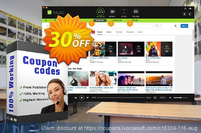 iSkysoft iMusic for Mac discount 30% OFF, 2020 Exclusive Student discount offering sales