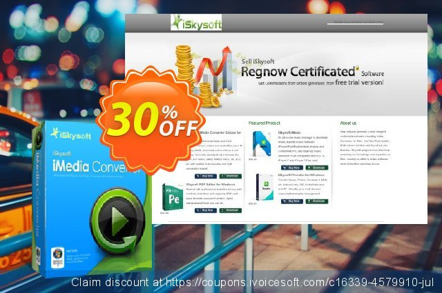 iSkysoft iMedia Converter discount 30% OFF, 2019 Thanksgiving Day offering sales
