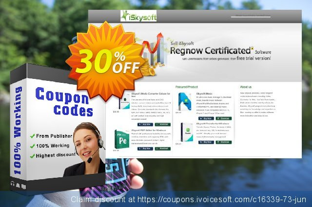 iSkysoft iMedia Converter Deluxe discount 30% OFF, 2019 Thanksgiving deals