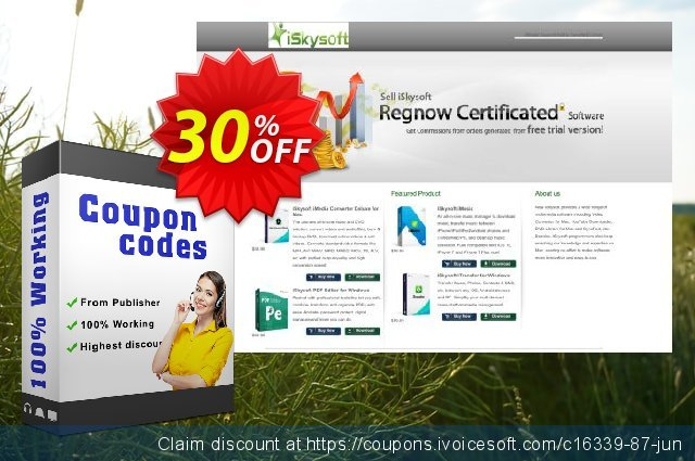 iSkysoft PDF Converter for Windows discount 30% OFF, 2020 Happy New Year offering sales