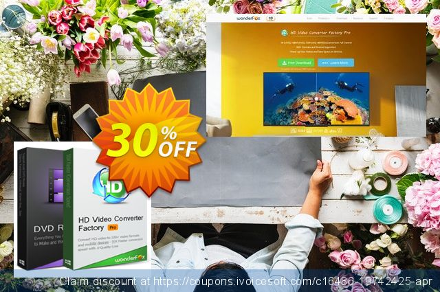 WonderFox DVD Ripper Pro + HD Video Converter Factory Pro discount 73% OFF, 2020 Happy New Year offering sales