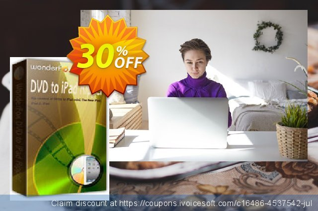 WonderFox DVD to iPad Ripper discount 30% OFF, 2020 Working Day promo