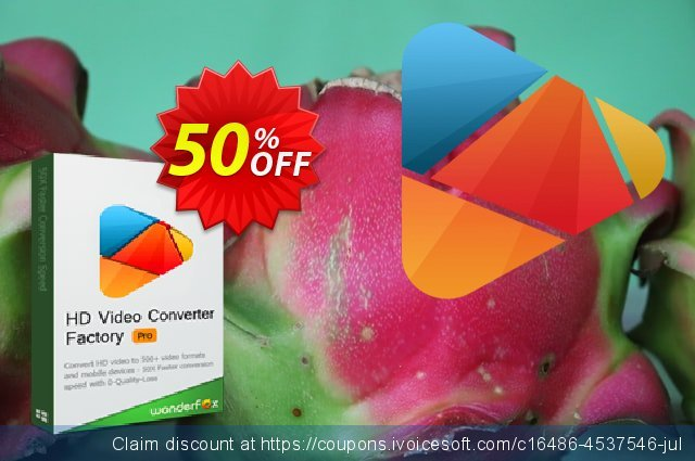 WonderFox HD Video Converter Factory Pro discount 50% OFF, 2020 Fourth of July offering sales