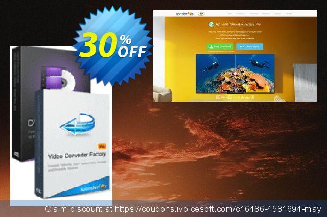 WonderFox DVD Ripper Pro + Video Converter Factory Pro大的折扣 软件截图