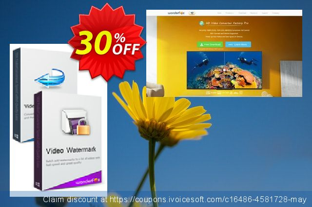 Video Converter Factory Pro + Video Watermark discount 30% OFF, 2019 Thanksgiving Day offering deals