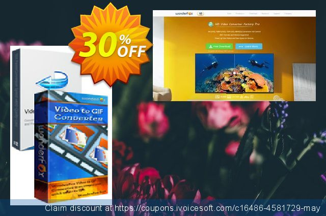 Video Converter Factory Pro + Video to GIF Converter discount 30% OFF, 2020 New Year offering sales