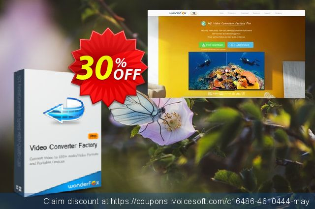 Video Converter Factory Pro discount 30% OFF, 2019 College Student deals offering sales