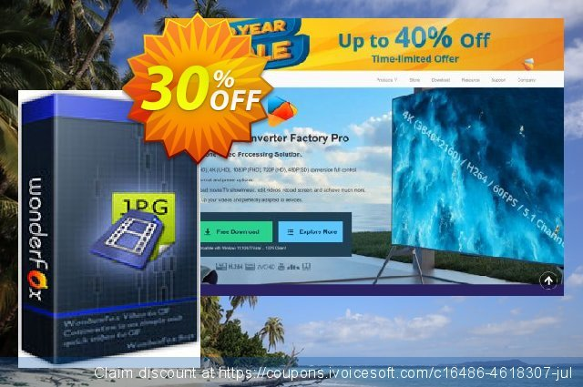 WonderFox Video to Picture Converter discount 30% OFF, 2019 Back to School offer promo