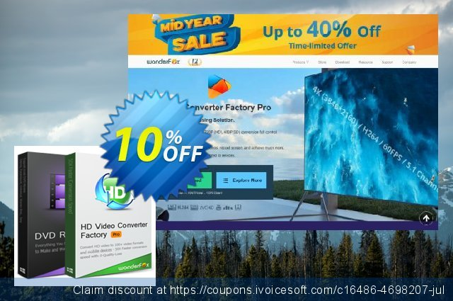 WonderFox DVD & Video Software Bundle discount 10% OFF, 2020 Labour Day offering sales