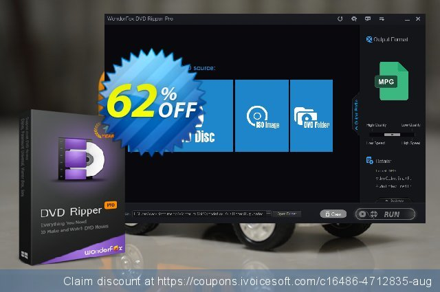 WonderFox DVD Ripper Pro discount for Family License 令人震惊的 销售折让 软件截图